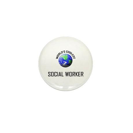 World's Coolest SOCIAL WORKER Mini Button