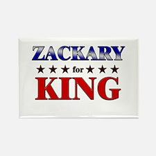 ZACKARY for king Rectangle Magnet
