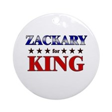 ZACKARY for king Ornament (Round)