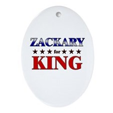 ZACKARY for king Oval Ornament