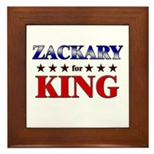 ZACKARY for king Framed Tile