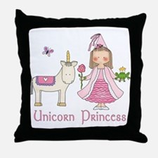 Unicorn Princess Throw Pillow