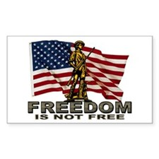 FREEDOM NOT FREE Rectangle Decal
