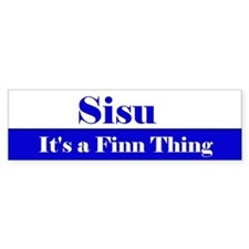 Sisu--It's a Finn Thing Bumper Car Sticker