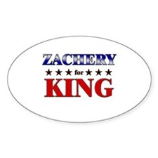 ZACHERY for king Oval Decal
