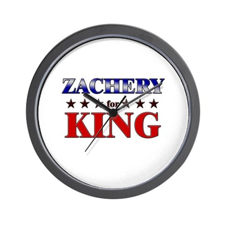 ZACHERY for king Wall Clock