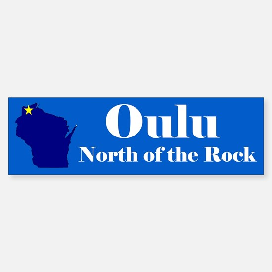 Oulu, North of the Rock Car Car Sticker