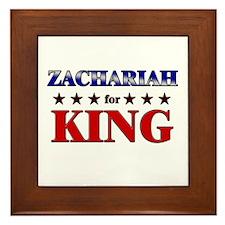 ZACHARIAH for king Framed Tile