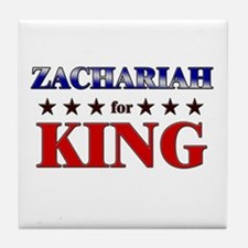 ZACHARIAH for king Tile Coaster