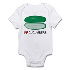I Love Cucumber Infant Bodysuit