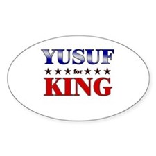 YUSUF for king Oval Decal