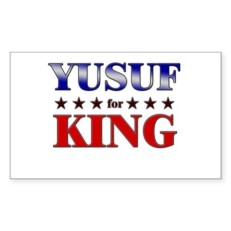 YUSUF for king Rectangle Sticker
