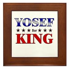 YOSEF for king Framed Tile