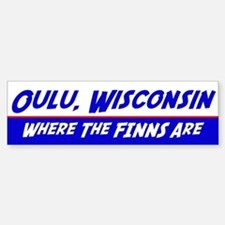 Oulu Wisconsin--Where the Finns Are Car Car Sticker