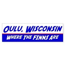 Oulu Wisconsin--Where the Finns Are Car Sticker