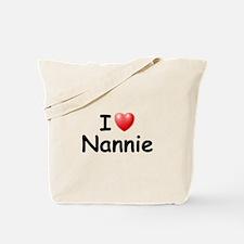 I Love Nannie (Black) Tote Bag