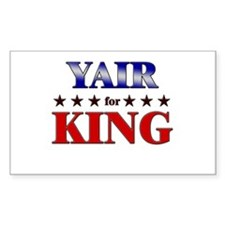 YAIR for king Rectangle Decal