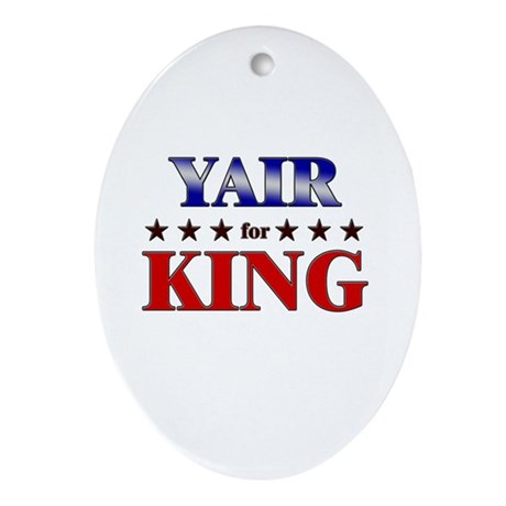 YAIR for king Oval Ornament