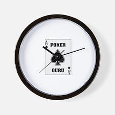 """Poker Guru"" Wall Clock"