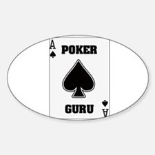 """Poker Guru"" Oval Decal"