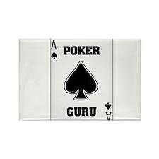 """""""Poker Guru"""" Rectangle Magnet"""