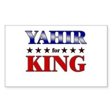 YAHIR for king Rectangle Decal