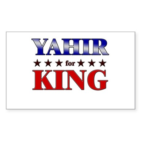 YAHIR for king Rectangle Sticker