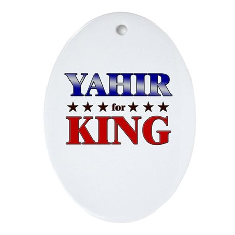 YAHIR for king Oval Ornament