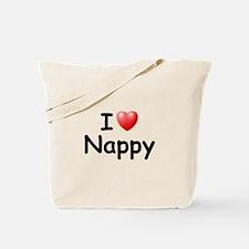 I Love Nappy (Black) Tote Bag