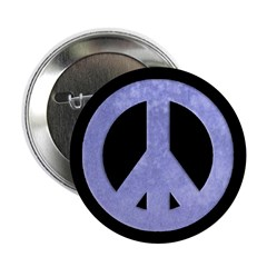 Watercolor Blue Peace Sign (100 buttons)