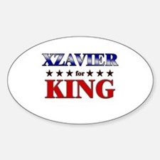 XZAVIER for king Oval Decal