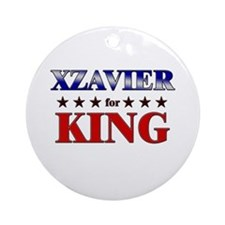 XZAVIER for king Ornament (Round)
