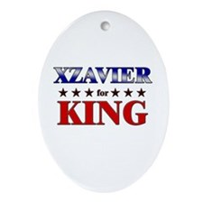 XZAVIER for king Oval Ornament