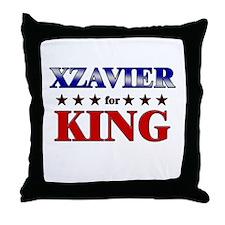 XZAVIER for king Throw Pillow