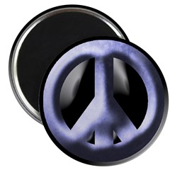 Metal Blue Peace Sign (100 magnets)