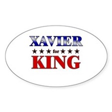 XAVIER for king Oval Decal