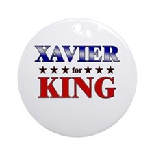 XAVIER for king Ornament (Round)