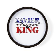 XAVIER for king Wall Clock