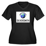World's Coolest SILVERSMITH Women's Plus Size V-Ne