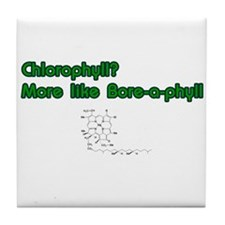 Chlorophyll Bore-a-phyll Tile Coaster