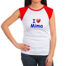 I Love Mima (Blue) Women's Cap Sleeve T-Shirt