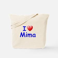 I Love Mima (Blue) Tote Bag