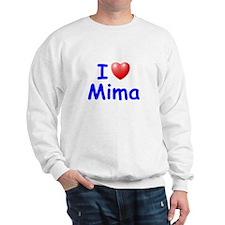 I Love Mima (Blue) Sweatshirt