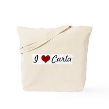 I love Carla Tote Bag