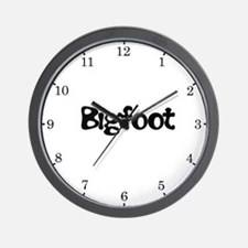 Bigfoot Text Wall Clock