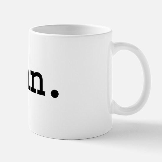 man. Mug