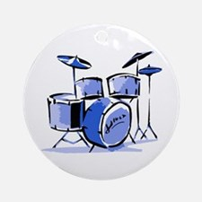 Drum Set Round Keepsake (Blue)