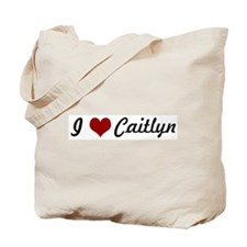 I love Caitlyn Tote Bag