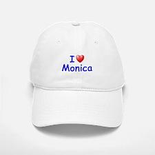 I Love Monica (Blue) Baseball Baseball Cap
