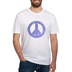 Blue Watercolor Peace Sign Shirt